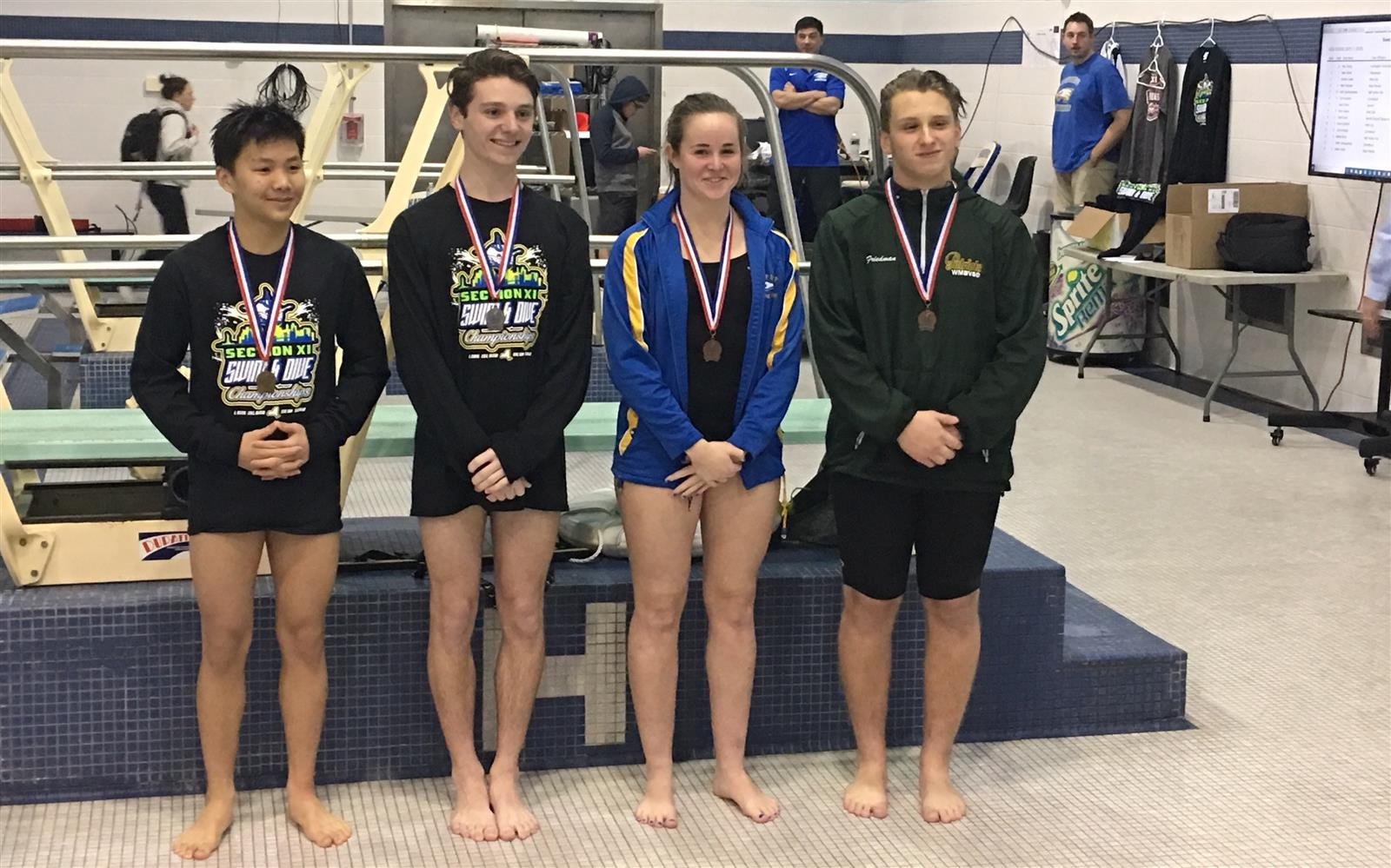 Adriane Casey Takes Third in County Diving Championship