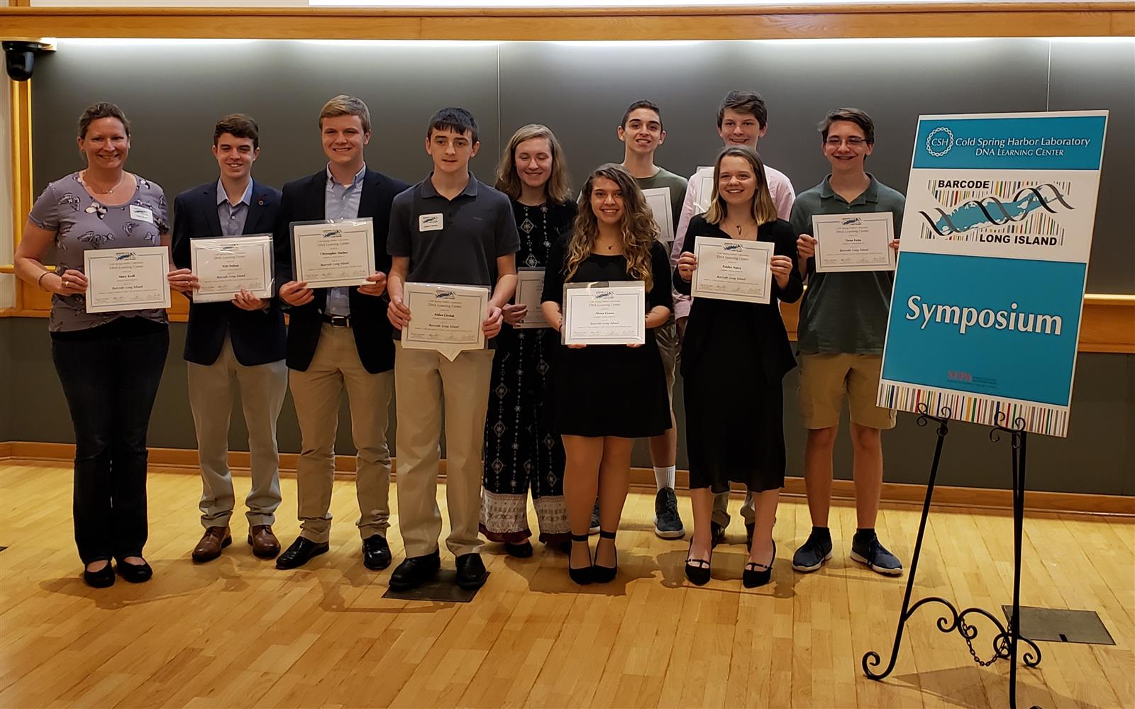Science Students and Teacher Recognized at Barcode Long Island Symposium