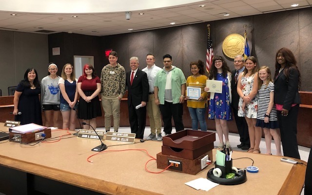Student Ambassadors Honored by Suffolk County
