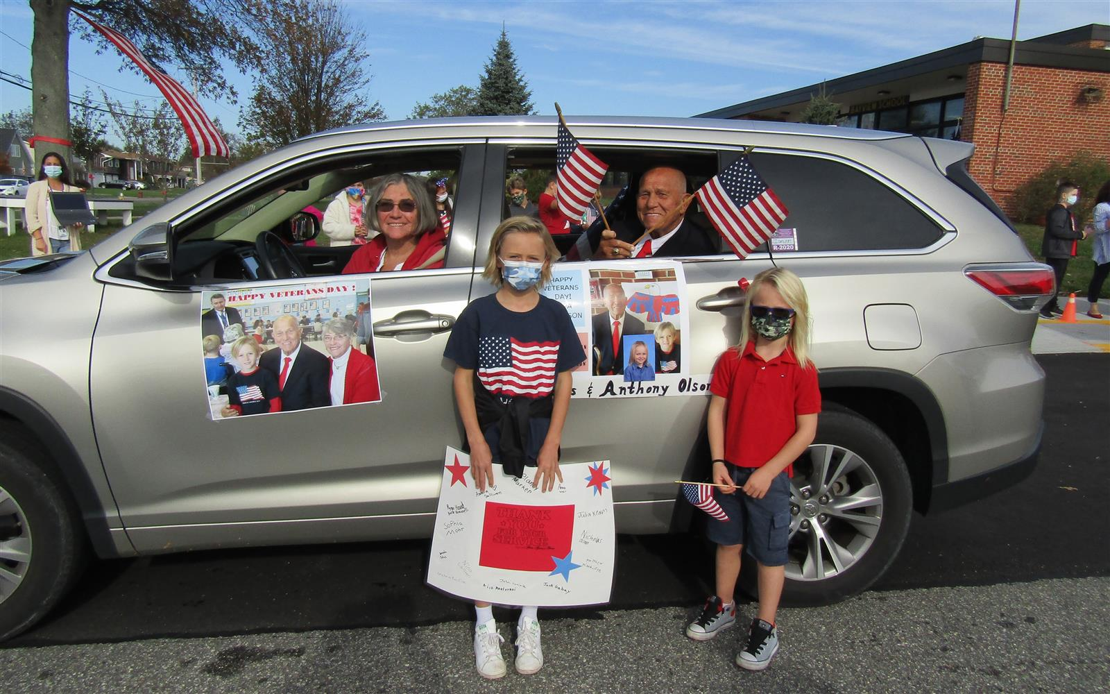 Bayview Celebrates Vets with Car Convoy
