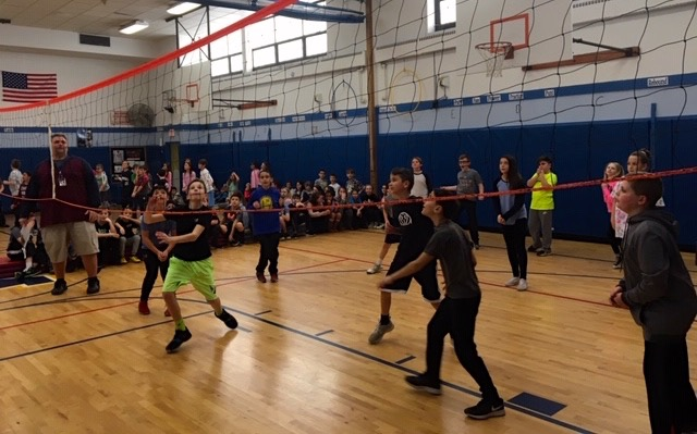 Students Try to Out-Volley Staff at Bellew