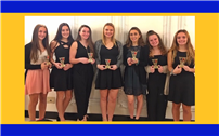 HS Gymnasts Recognized at Annual Awards Dinner