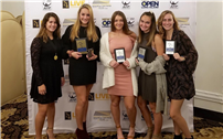 Five Girls Tennis Players Honored at Awards Dinner