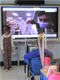West Islip middle schooler pays surprise virtual visit to Bellew third-grade class thumbnail182223