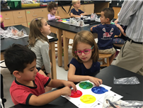 Bellew Kindergartners Sort and Classify in the STEM Lab 2