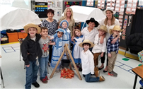 Bayview Second Graders Play at Being Pioneers