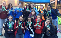 Medals Galore for Girls Track Team