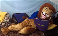 Our new Literacy Lion's name is Leo