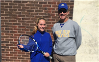 Paulsen Finishes Fifth in Tennis Division